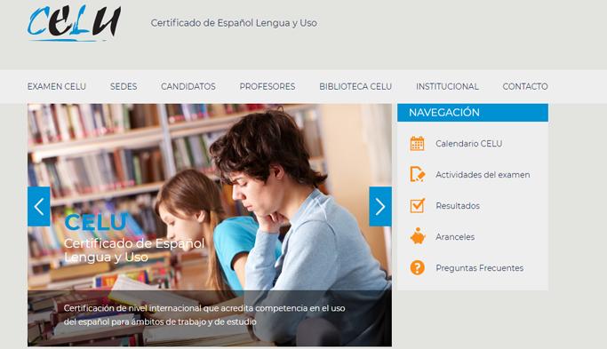 portal celu - Certificados de Espanhol Aceitos pela UNLP