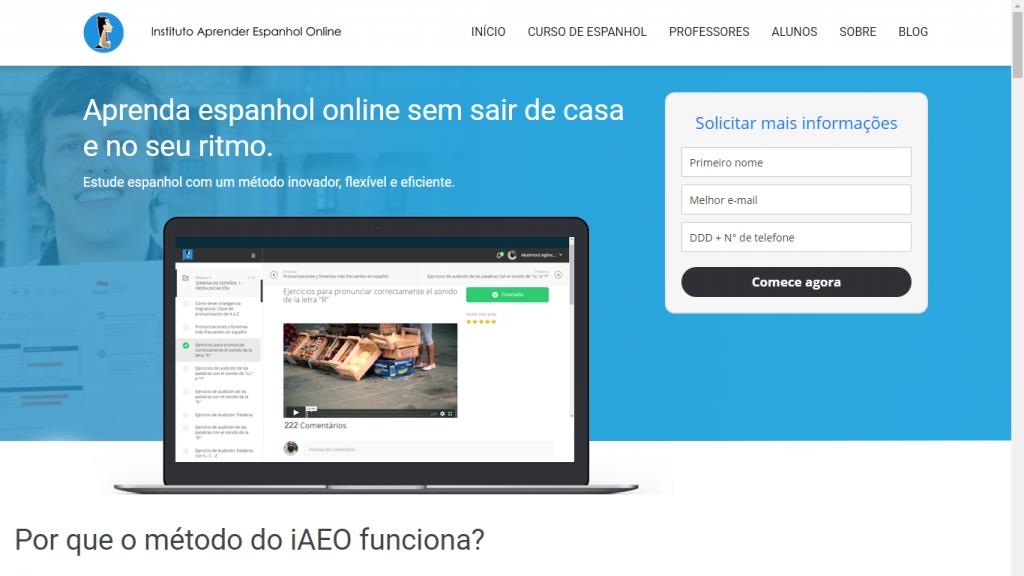 Página inicial - Instituto Aprender Espanhol Online