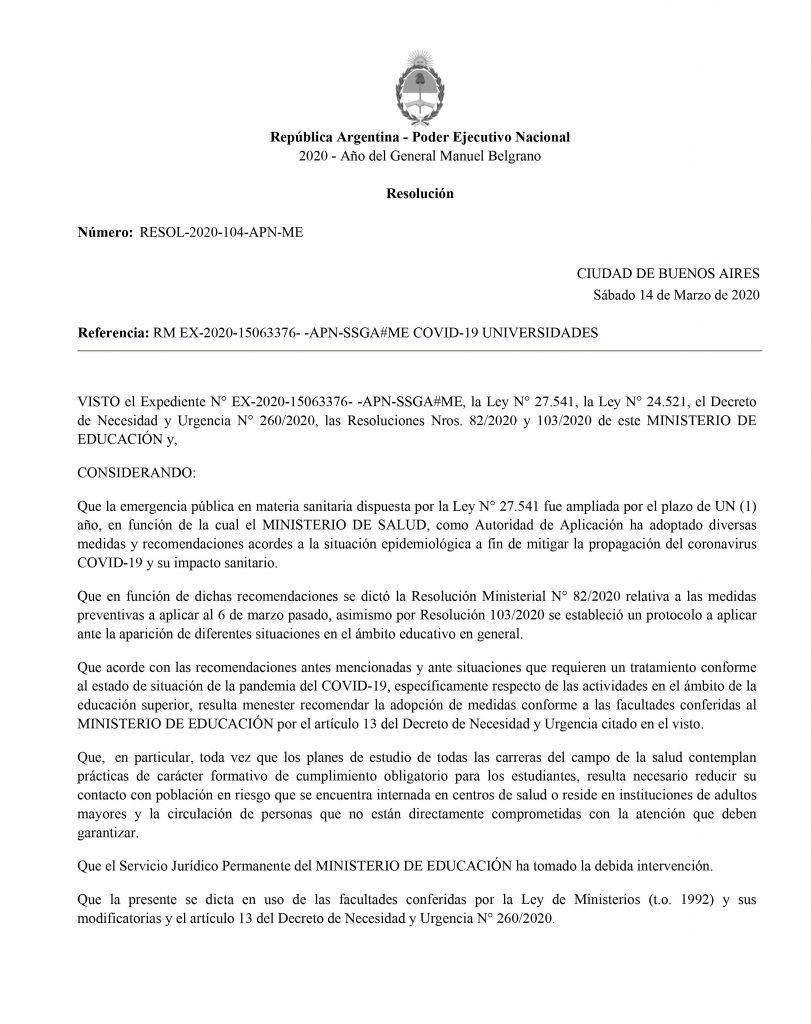 0001 1 811x1024 - Coronavírus faz Universidade de Buenos Aires suspender as aulas