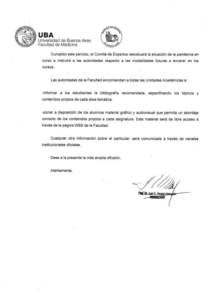 0002 724x1024 - Coronavírus faz Universidade de Buenos Aires suspender as aulas